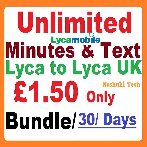 Lyca SIM Card with lyca bundle 1.50
