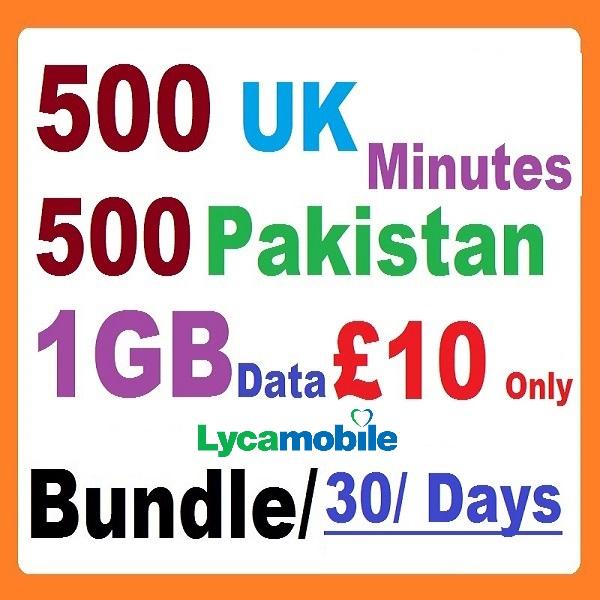 Lyca SIM Card with lyca bundle pakistan plus